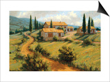 Italian Cypress Print by Roger Williams