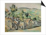 Aix En Provence, Rocky Countryside Prints by Paul Cézanne
