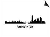 Bangkok Skyline Poster by  unkreatives