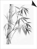 Watercolor Painting Of Bamboo Prints by  Surovtseva