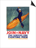 Join the Navy, the Service for Fighting Men, c.1917 Prints by Richard Fayerweather Babcock