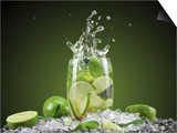Mojito Cocktail With Splash And Ice Prints by  Jag_cz