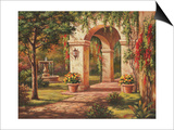 Arch Courtyard I Print by Sung Kim