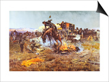 Camp Cook's Troubles Art by Charles Marion Russell