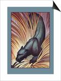Stalking Panther Poster by Major Felton