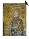 Empress Irene, Holding the Deed for the Church's Endowment, In the South Gallery of Hagia Sophia Print
