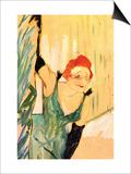Yvette Guilbert Greets The Audience Poster by Henri de Toulouse-Lautrec