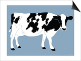 Blue Dairy Cow Prints by  Avalisa
