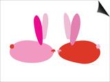 Pink Bunnies Prints by  Avalisa