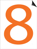 Orange Eight Posters by  Avalisa