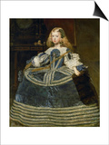 The Infanta Margarita Teresa (1651-1673) in a Blue Dress Prints by Diego Velázquez