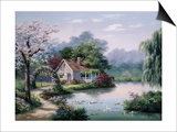 Arbor Cottage Prints by Sung Kim