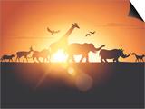 Sunset Safari Plakater af  Solarseven