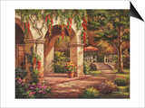 Arch Courtyard II Prints by Sung Kim