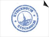 Stockholm Stamp Print by  radubalint