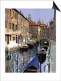 La Barche Sul Canale Art by Guido Borelli