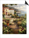 Villa's Garden Path Print by Peter Bell