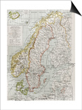 Scandinavia Political Map With Iceland Insert Map Prints by  marzolino