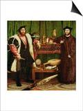 The French Ambassadors of King Henry II at the Court of the English King Henry VIII Poster by Hans Holbein the Younger