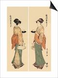 Tea House Girl Art by Kitagawa Utamaro