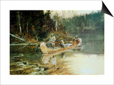 On the Flathead Posters by Charles Marion Russell