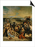 The Massacre of Chios, Greek Families Waiting for Death or Slavery, 1824 Prints by Eugene Delacroix