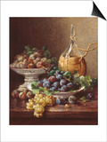 Still Life of Grapes, Plums and Wine Prints by Eugene Claude