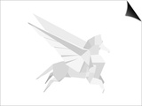 Illustration Of An Origami Pegasus Posters by  unkreatives