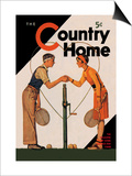 Country Home: A Friendly Match Print