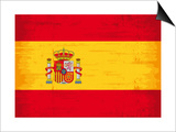 Spanish Grunge Flag. A Flag Of Spain With A Texture Prints by  TINTIN75