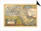 Map of the Middle East Posters by Abraham Ortelius