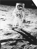 Edwin E. Aldrin Jr. Walks the Moon Prints