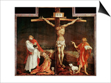 Crucifixion, a Panel from the Isenheim Altar, Limewood (Around 1515) Posters by Matthias Grünewald