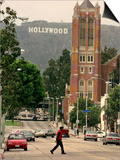 Hollywood Sign Print by Mark J. Terrill