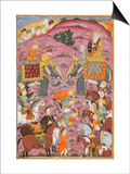 Shahnameh de Ferdowsi ou le Livre des Rois. Première entrevue de Roustam et son aïeul Sam Prints