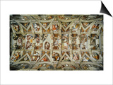 The Sistine Chapel; Ceiling Frescos after Restoration Posters by  Michelangelo Buonarroti