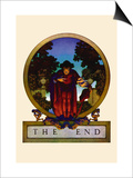 The End Posters by Maxfield Parrish