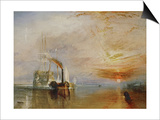 The Temeraire Towed to Her Last Berth (AKA The Fighting Temraire) Art by J. M. W. Turner