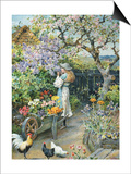English Cottage Garden Art by William Stephen Coleman