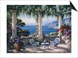Mediterranean Terrace Prints by Sung Kim