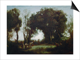 The Dance of the Nymphs (Une Matinee) Art by Jean-Baptiste-Camille Corot