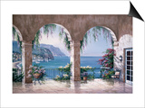 Mediterranean Arch Print by Sung Kim