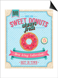 Vintage Donuts Poster Print by  avean