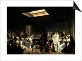 A Game of Billiards Prints by Louis-Leopold Boilly