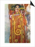 Hygeia Láminas por Gustav Klimt
