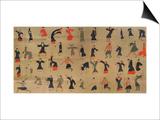 """Photographie des fragments du """"Daoyin tu"""" Posters"""