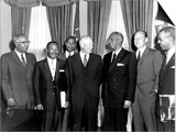 Eisenhower Civil Rights Leaders Poster by  Associated Press