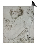 Painter and Patron (With Brueghel's Self-Portrait), Drawing Prints by Pieter Bruegel the Elder