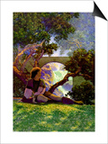 The Knave of Hearts in the Meadow Prints by Maxfield Parrish