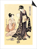 Upper Class Women Prints by Kitagawa Utamaro